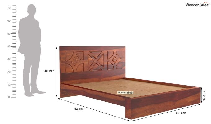 Martin Bed Without Storage (Queen Size,Honey Finish)-10