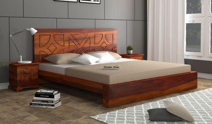 Martin Bed Without Storage (King Size,Honey Finish)-1