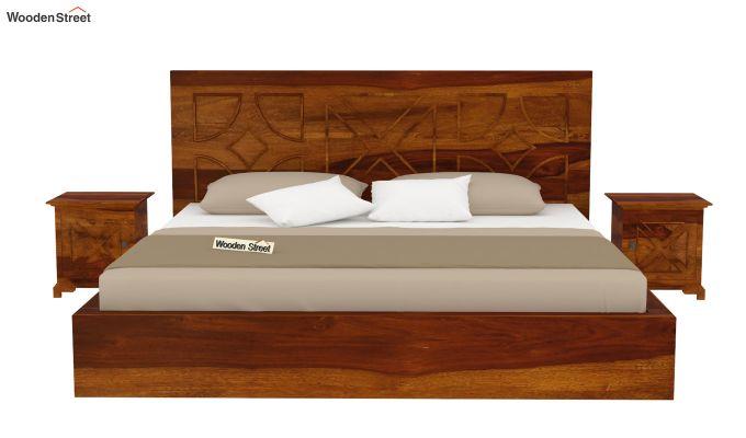 Martin Bed Without Storage (King Size,Honey Finish)-3