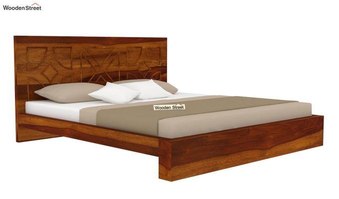 Martin Bed Without Storage (King Size,Honey Finish)-4