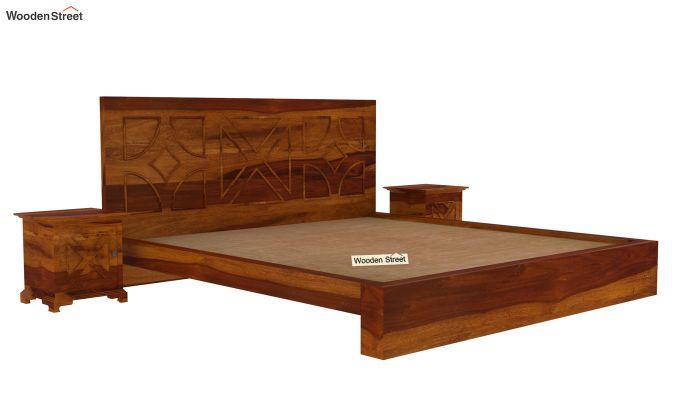 Martin Bed Without Storage (King Size,Honey Finish)-6