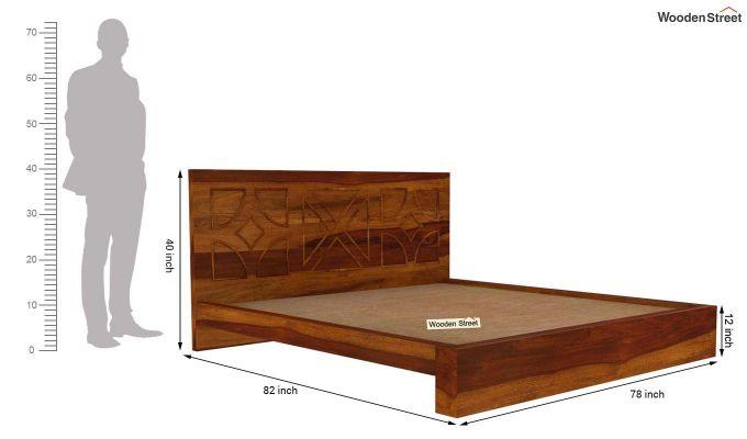 Martin Bed Without Storage (King Size,Honey Finish)-10