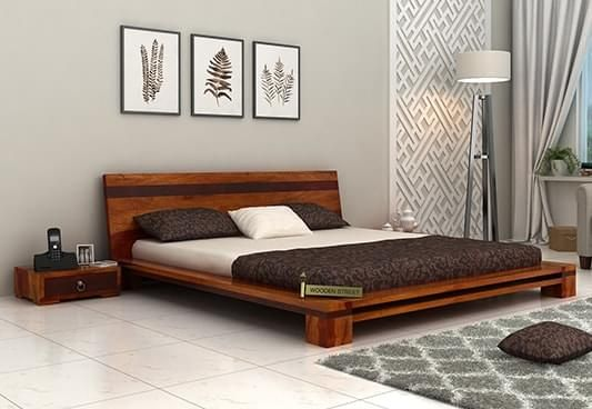 Captivating Buy Wooden Double Bed Online In India