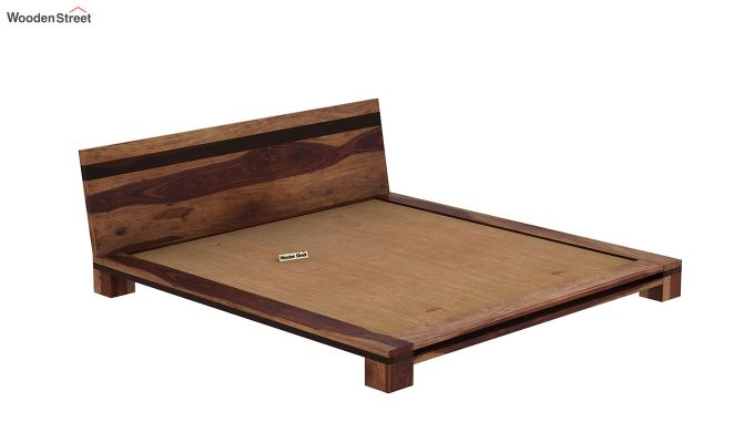 Melisandre Low Floor Double Bed (Queen Size, Teak Finish)-6