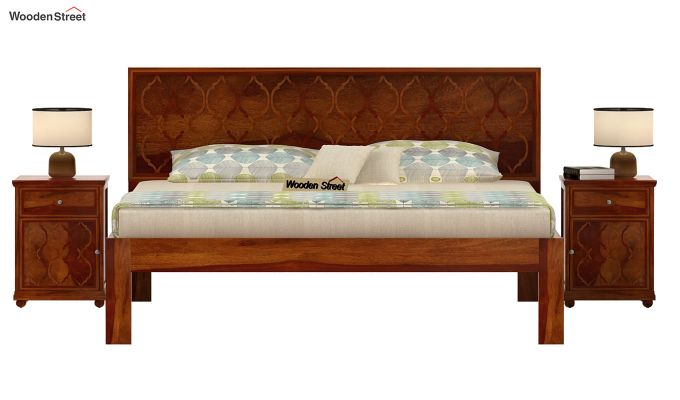 Montana Bed Without Storage (King Size, Honey Finish)-2