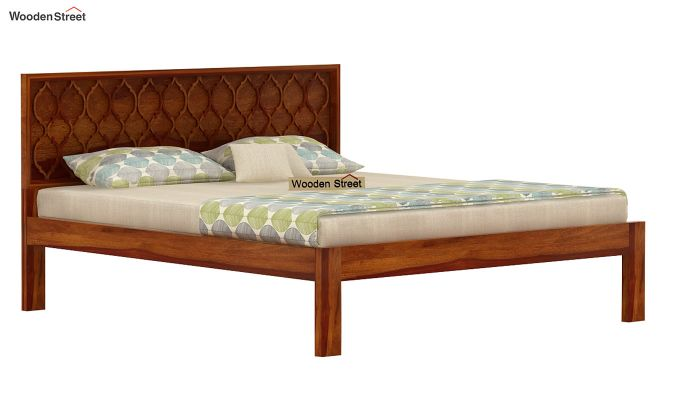 Montana Bed Without Storage (King Size, Honey Finish)-3