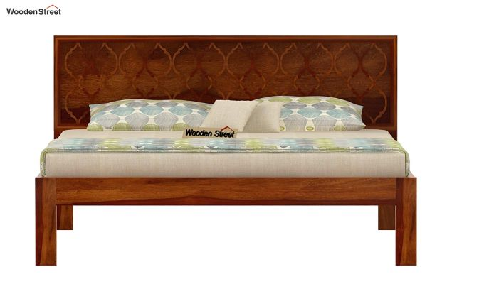 Montana Bed Without Storage (King Size, Honey Finish)-4