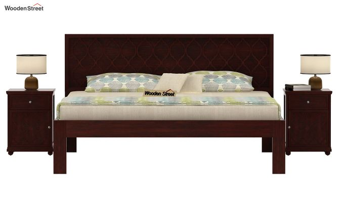 Montana Bed Without Storage (King Size, Mahogany Finish)-3