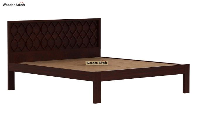 Montana Bed Without Storage (King Size, Mahogany Finish)-6