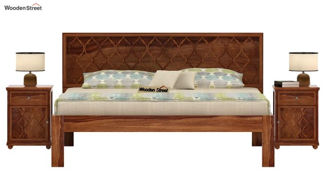 Montana Bed Without Storage (Queen Size, Teak Finish)-2