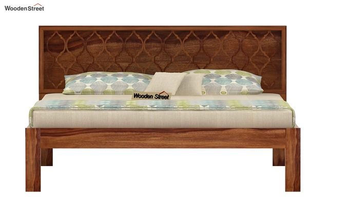 Montana Bed Without Storage (Queen Size, Teak Finish)-4