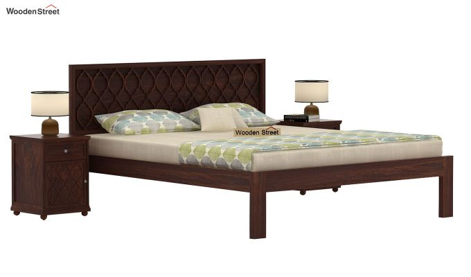 Montana Bed Without Storage (King Size, Walnut Finish)-1