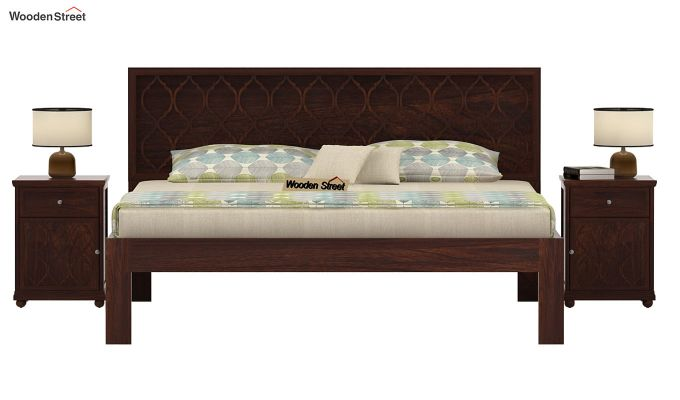 Montana Bed Without Storage (King Size, Walnut Finish)-2