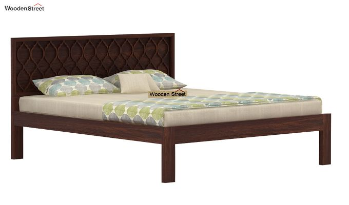 Montana Bed Without Storage (King Size, Walnut Finish)-3