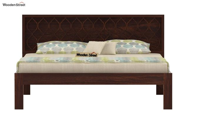 Montana Bed Without Storage (King Size, Walnut Finish)-4