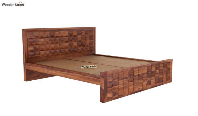 Morse Bed Without Storage (King Size, Honey Finish)-4