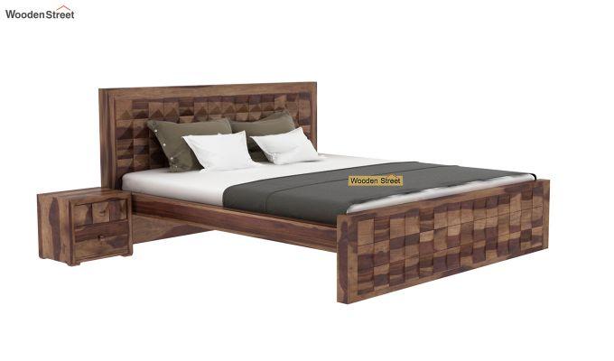 Morse Bed Without Storage (King Size, Teak Finish)-2