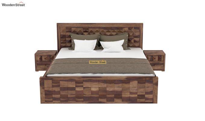 Morse Bed Without Storage (King Size, Teak Finish)-3
