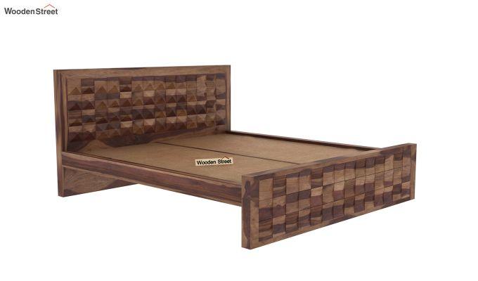 Morse Bed Without Storage (King Size, Teak Finish)-4