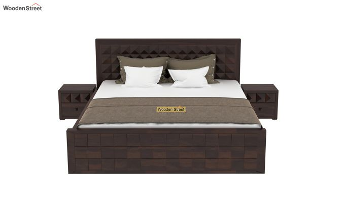 Morse Bed Without Storage (King Size, Walnut Finish)-3