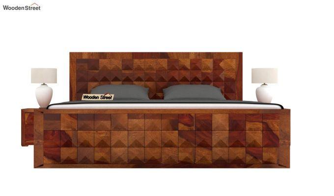 Morse Bed Without Storage (King Size, Honey Finish)-2