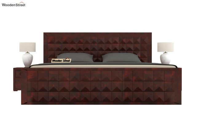 Morse Bed Without Storage (King Size, Mahogany Finish)-2