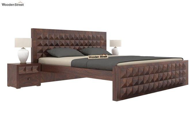 Morse Bed Without Storage (King Size, Walnut Finish)-1