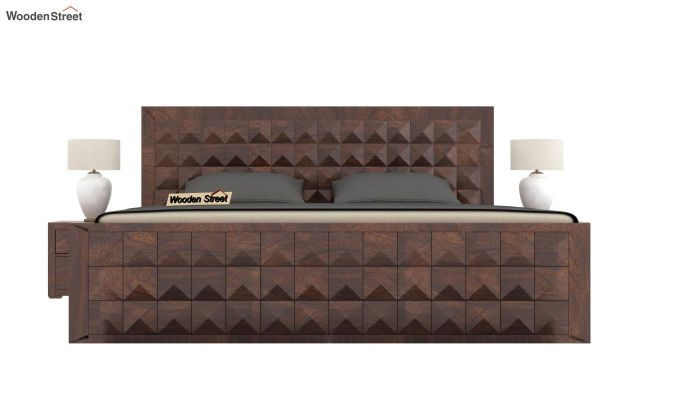 Morse Bed Without Storage (King Size, Walnut Finish)-2