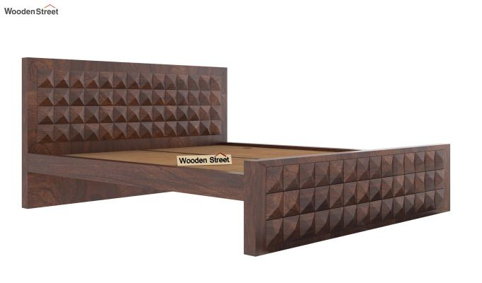 Morse Bed Without Storage (King Size, Walnut Finish)-4