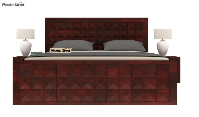Morse Bed Without Storage (Queen Size, Mahogany Finish)-2