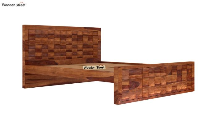 Morse Bed Without Storage (Queen Size, Teak Finish)-5