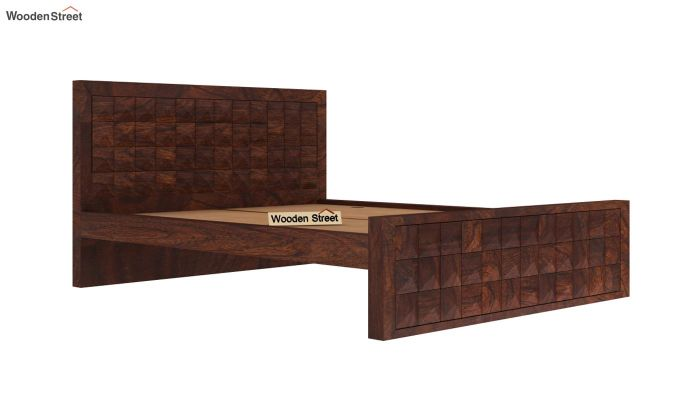 Morse Bed Without Storage (Queen Size, Walnut Finish)-4