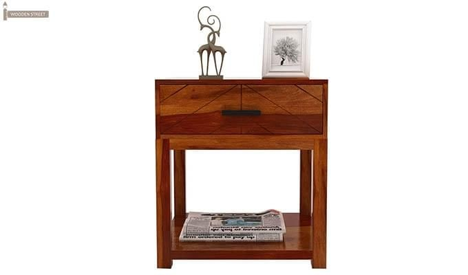Neeson Bedside Table (Honey Finish)-3