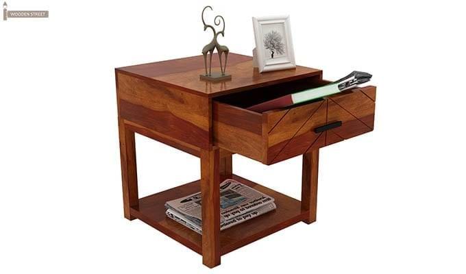 Neeson Bedside Table (Honey Finish)-4