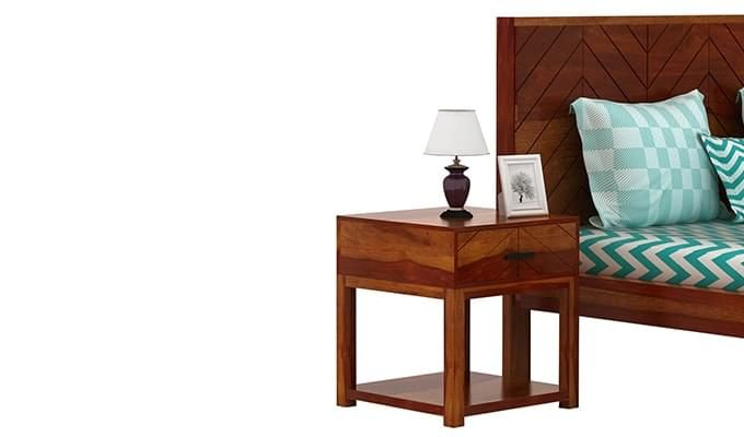 Neeson Bedside Table (Honey Finish)-2