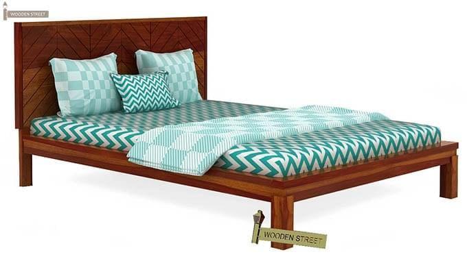 Neeson Bed Without Storage (King Size, Honey Finish)-4
