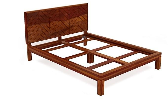 Neeson Bed Without Storage (King Size, Honey Finish)-6