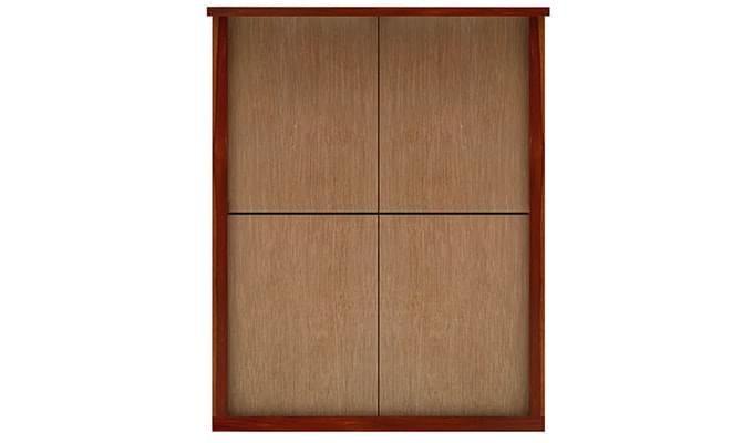 Neeson Bed Without Storage (King Size, Honey Finish)-9