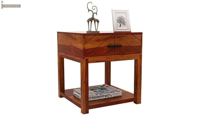 Neeson Bedside Table (Honey Finish)-6