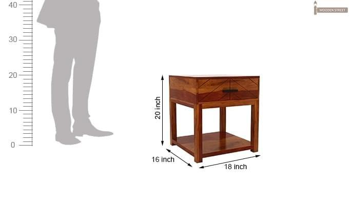 Neeson Bedside Table (Honey Finish)-7