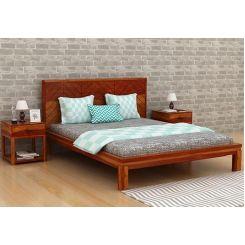 Neeson Bed Without Storage (King Size, Honey Finish)