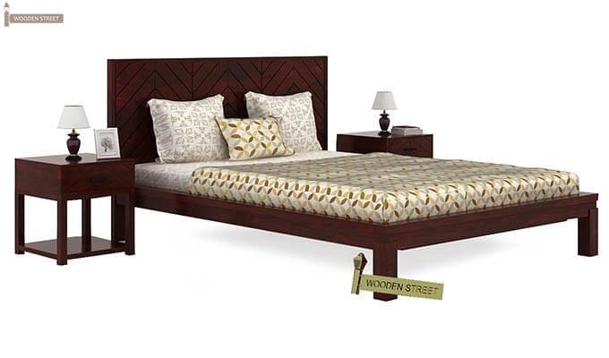 Neeson Bed Without Storage (King Size, Mahogany Finish)-1
