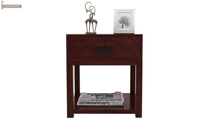 Neeson Bedside Table (Mahogany Finish)-2