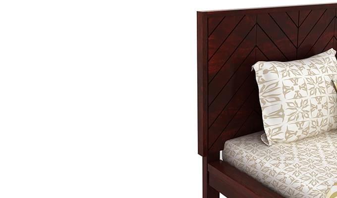 Neeson Bed Without Storage (King Size, Mahogany Finish)-5