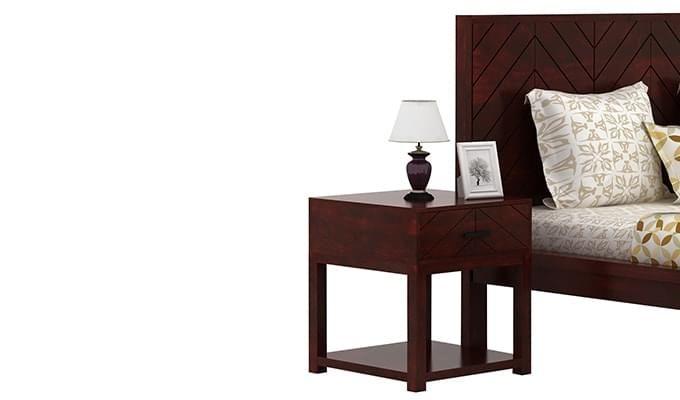 Neeson Bedside Table (Mahogany Finish)-1