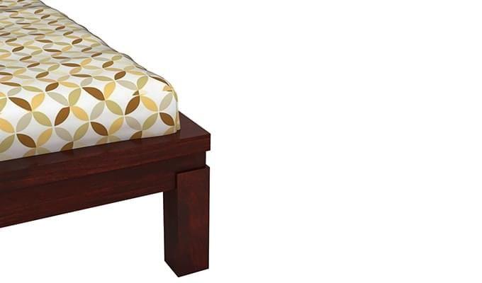 Neeson Bed Without Storage (King Size, Mahogany Finish)-6