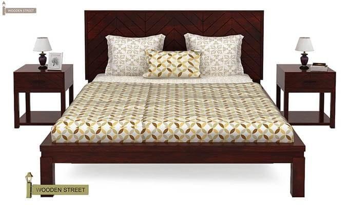 Neeson Bed Without Storage (King Size, Mahogany Finish)-2