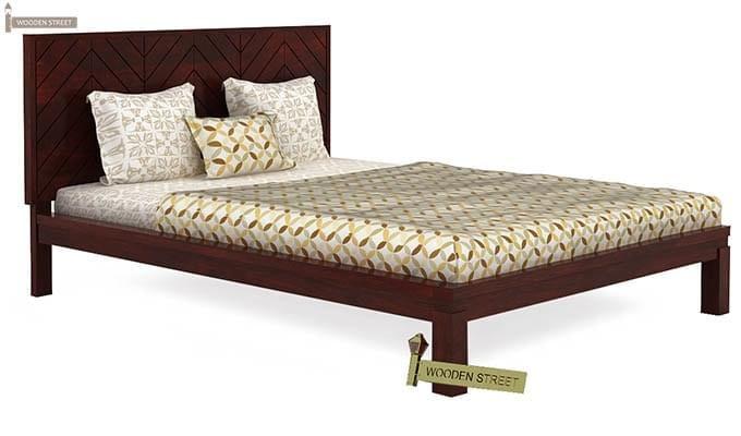 Neeson Bed Without Storage (King Size, Mahogany Finish)-3