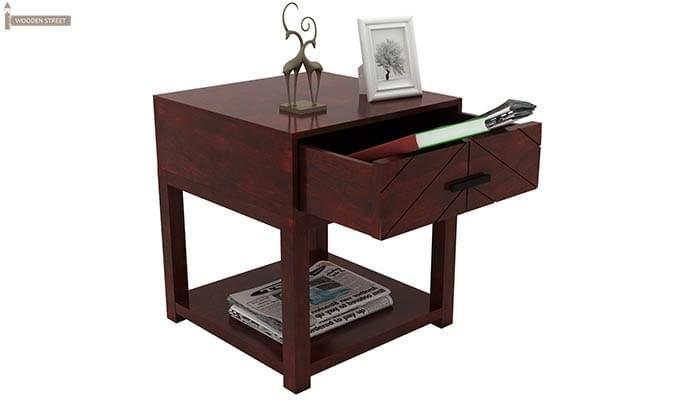 Neeson Bedside Table (Mahogany Finish)-5
