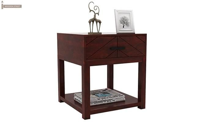 Neeson Bedside Table (Mahogany Finish)-4